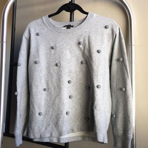 J.Crew Grey Poppy Sweater Sz: L